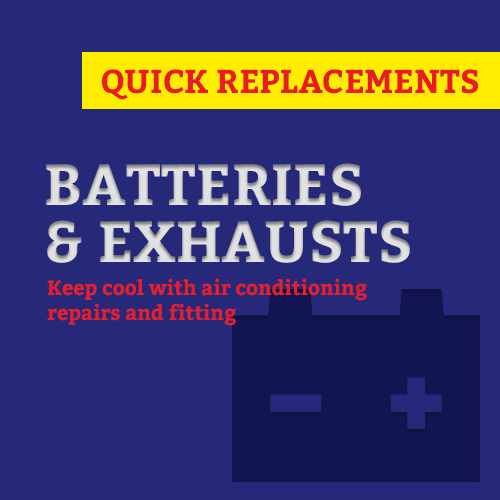 batteries and exhausts